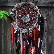 """Фен-шуй и эзотерика ручной работы. Ярмарка Мастеров - ручная работа Тотемный ловец снов """"Wolf tribe: faithful and intuition"""" РЕЗЕРВ!. Handmade."""
