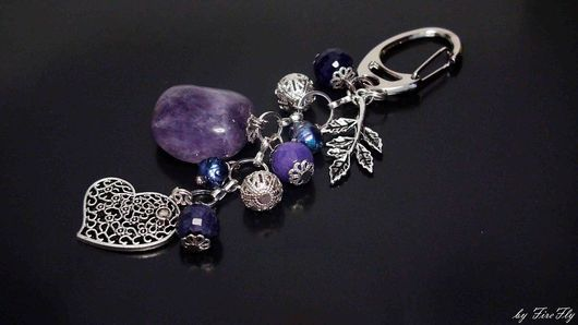 """Брелоки ручной работы. Ярмарка Мастеров - ручная работа. Купить Брелок """"Тайны сердца"""" для ключей, украшение на сумку. Handmade."""