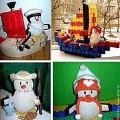 Куклы и игрушки ручной работы. Ярмарка Мастеров - ручная работа Пингвины (большие). Вязаная игрушка из шерсти. Handmade.
