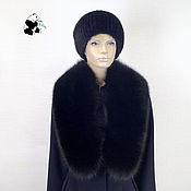 Аксессуары handmade. Livemaster - original item Fur detachable collar boa Fox fur. Black. Handmade.