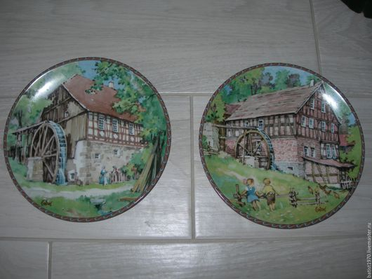 Декоративная посуда ручной работы. Ярмарка Мастеров - ручная работа. Купить Тарелка коллекционная, 2 шт, пара, Германия. Handmade.