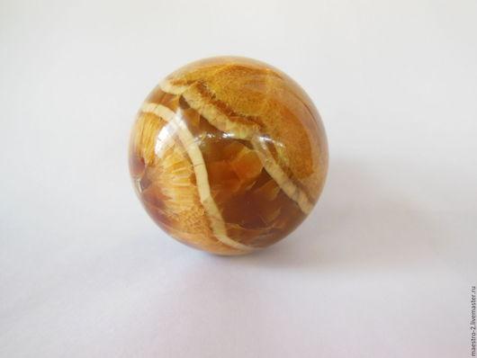 Статуэтки ручной работы. Ярмарка Мастеров - ручная работа. Купить Симбирцитовый шар №1. Handmade. Оранжевый, шары из камня