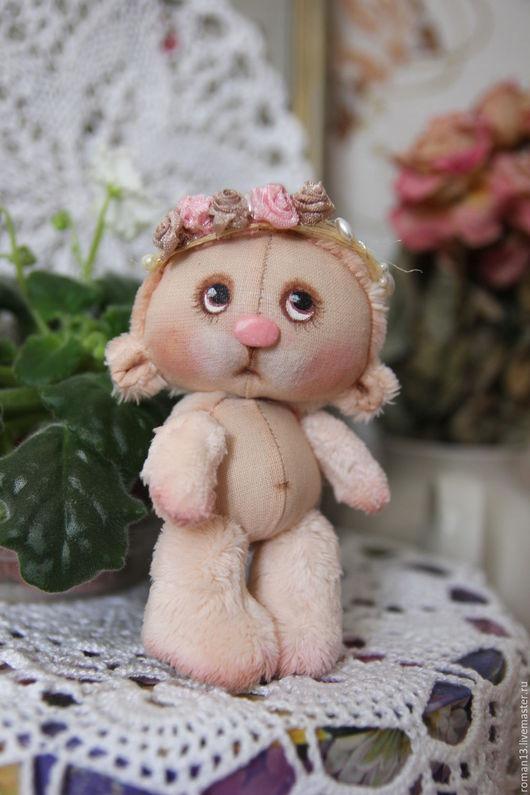 Мишки Тедди ручной работы. Ярмарка Мастеров - ручная работа. Купить Малышка Розе де Луар.. Handmade. Бледно-розовый