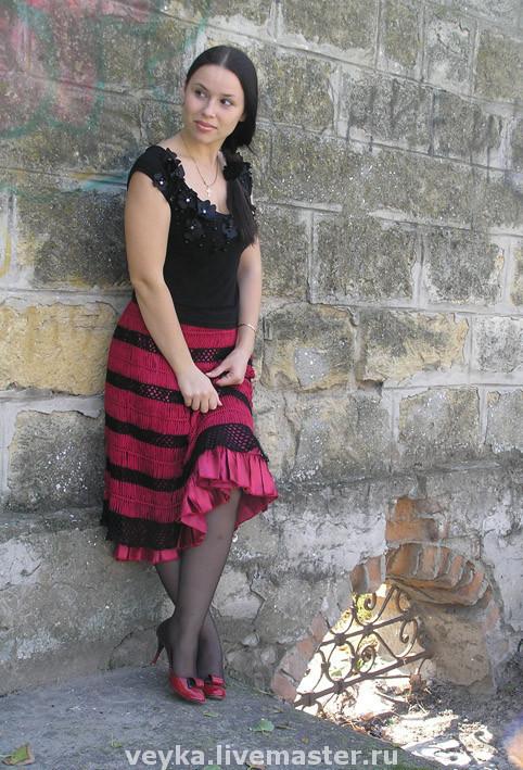 Skirts handmade. Livemaster - handmade. Buy crochet skirt 'flamenco'.Crochet, summer skirt, skirt, spain