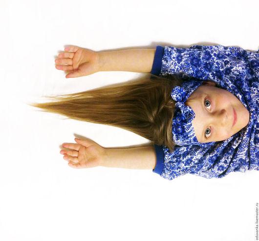 """Одежда для девочек, ручной работы. Ярмарка Мастеров - ручная работа. Купить Детское платье """"Синий цветок"""". Handmade. Цветочный"""