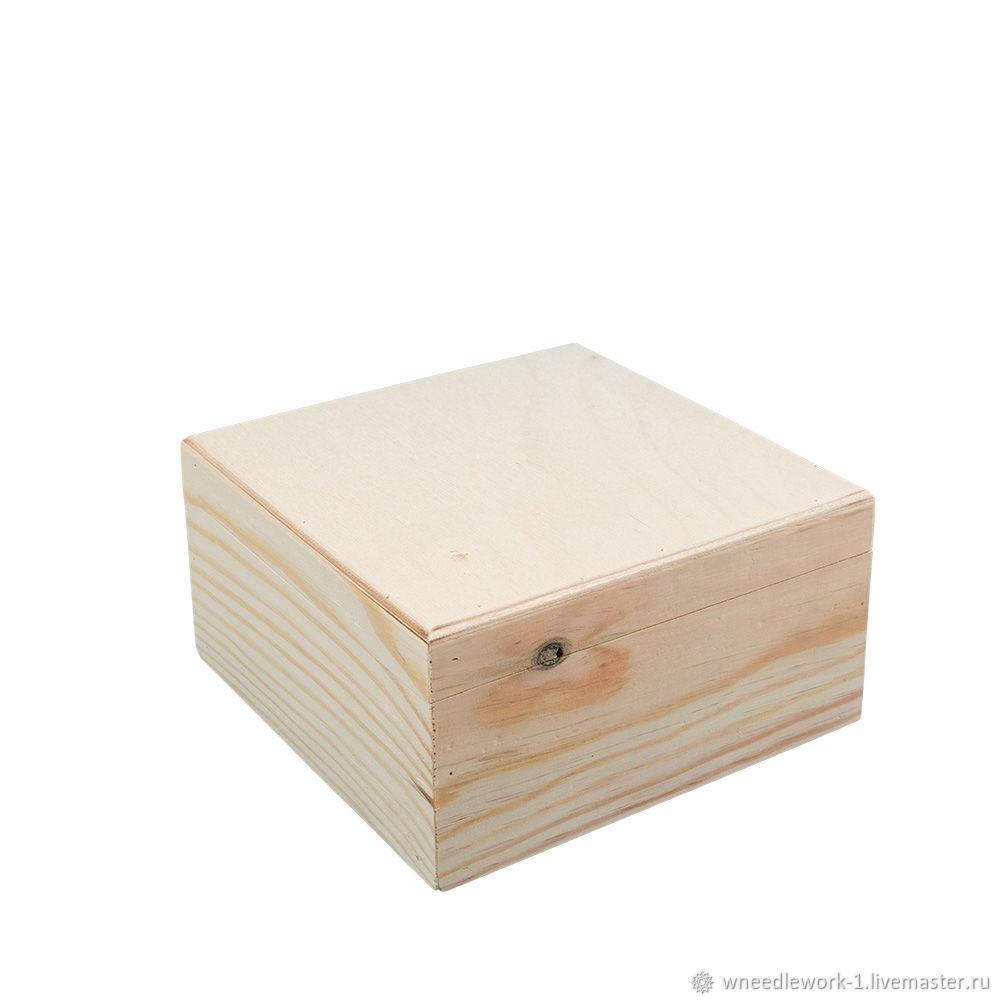 Деревянный короб сосна 16 x 16 x 8 см, Коробки, Москва,  Фото №1