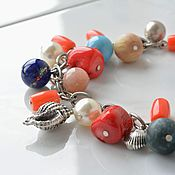Работы для детей, handmade. Livemaster - original item Beads with shell and pendants buy Holiday mood. Handmade.