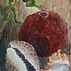 """Натюрморт ручной работы. Ярмарка Мастеров - ручная работа. Купить Картина натюрморт """"Гранат и ракушки"""". Handmade. Купить картину"""