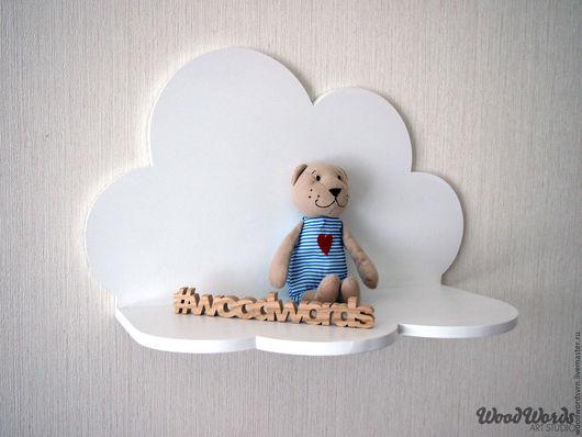 Мебель ручной работы. Ярмарка Мастеров - ручная работа. Купить Полка-облако. Handmade. Полка из дерева, полка для детской, для детей