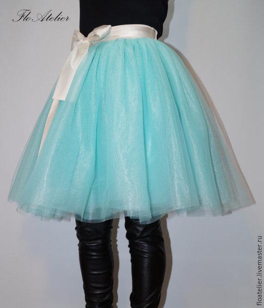 Юбки ручной работы. Ярмарка Мастеров - ручная работа. Купить Женская юбка из тюля/ Балетная юбка/ F1382. Handmade. Бирюзовый