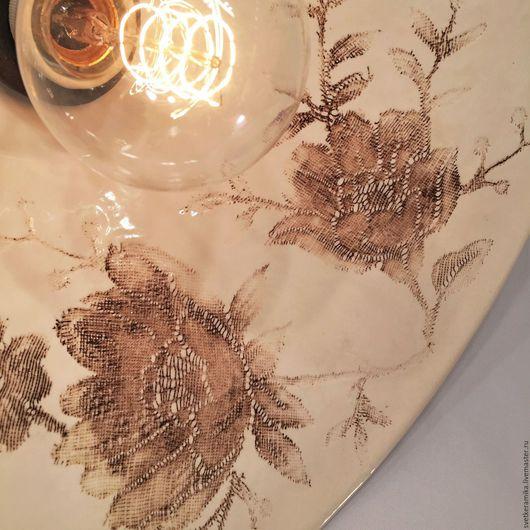 Освещение ручной работы. Ярмарка Мастеров - ручная работа. Купить Люстра с большим плафоном из фарфора «Кружева»  (33 или 45 см). Handmade.