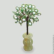 Фен-шуй и эзотерика handmade. Livemaster - original item Tree of happiness from Selenite in a vase of onyx. Handmade.