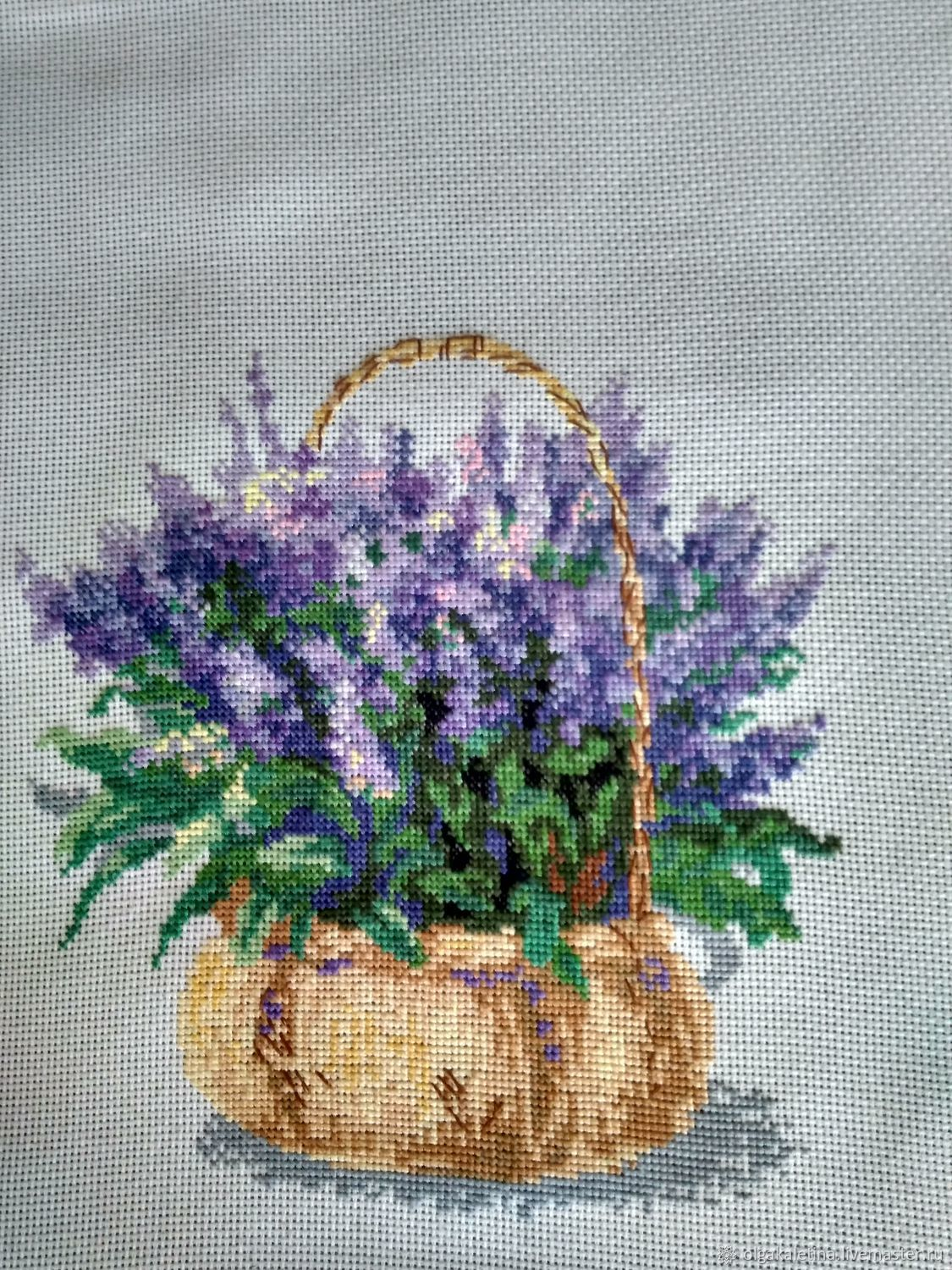 Embroidery'French lavender', Pictures, Kurgan,  Фото №1