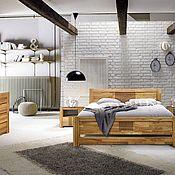 Кровати ручной работы. Ярмарка Мастеров - ручная работа Спальня Valencia из массива дуба в стиле лофт. Handmade.