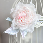 Свадебный салон ручной работы. Ярмарка Мастеров - ручная работа Украшение невесты роза Ванильное небо. Handmade.