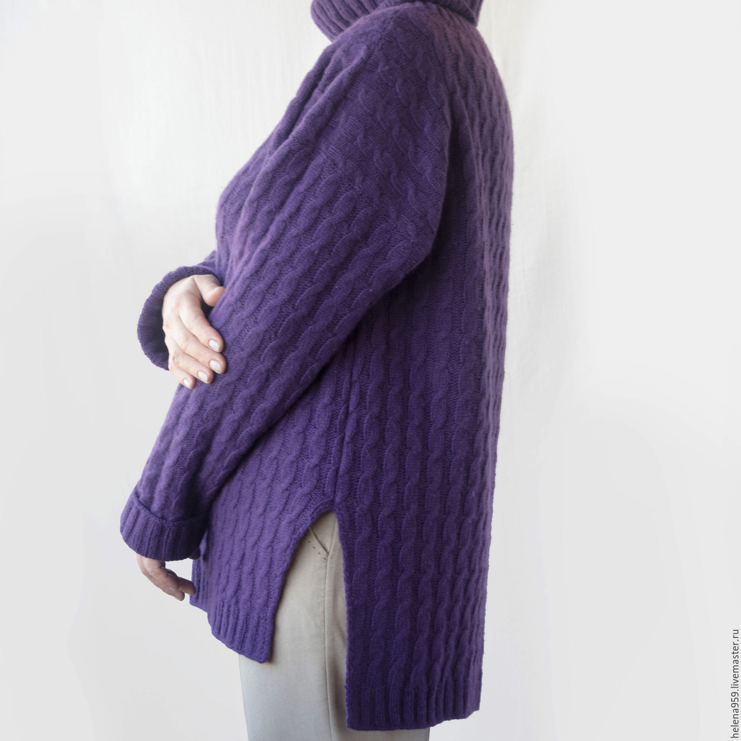 The oversized sweater with a high neckline – shop online on ...