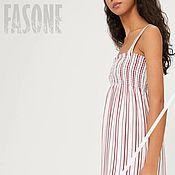 Одежда handmade. Livemaster - original item sundresses: dresses: Sundress white striped