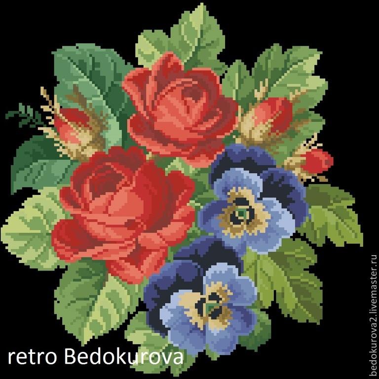 Купить РЕТРО схема Розы и