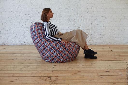 Мебель ручной работы. Ярмарка Мастеров - ручная работа. Купить Кресло-мешок 3D. Handmade. Комбинированный, кресло-груша