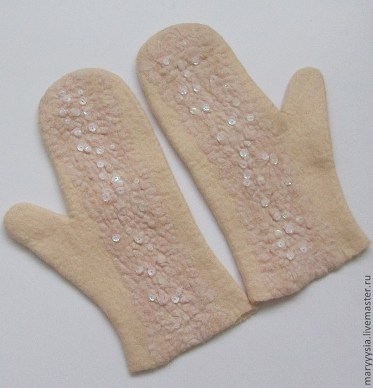 Варежки, митенки, перчатки ручной работы. Ярмарка Мастеров - ручная работа. Купить варежки. Handmade. Варежки, шерсть меринос