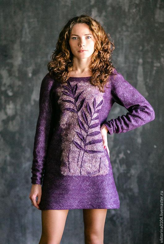 """Платья ручной работы. Ярмарка Мастеров - ручная работа. Купить Туника-платье """"Базилик"""". Handmade. Комбинированный, волокна шёлка и вискозы"""