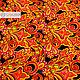 ' Khokhloma Feather of the Firebird ' Atlas. Fabric. SLAVYANKA. My Livemaster. Фото №5