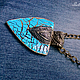 Кулоны, подвески ручной работы. Ярмарка Мастеров - ручная работа. Купить Кулон голубой яркий винтажный Кулон в технике кракелюр. Handmade.