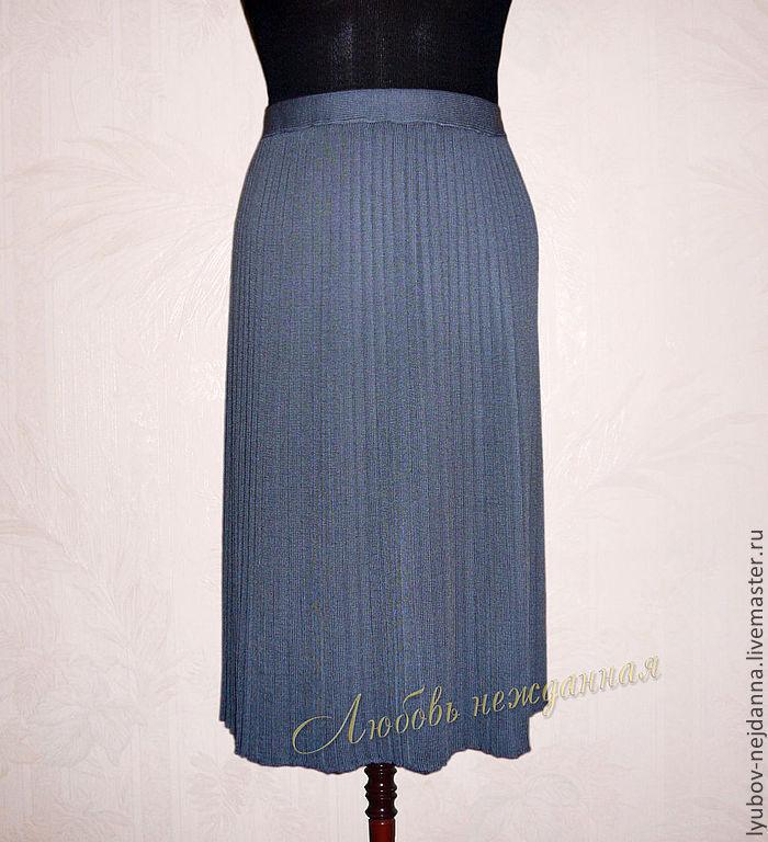 Плиссированная юбка связанная