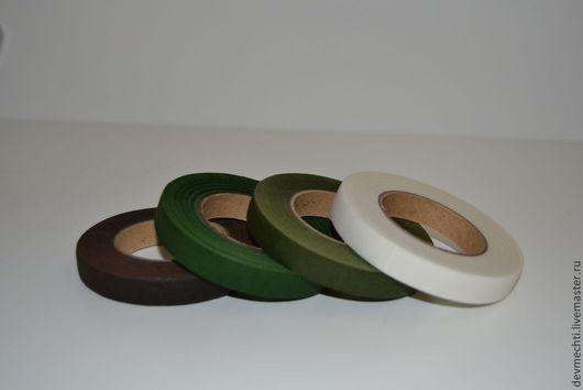 Ширина ленты 12 мм (25 м) Цвета: белый,светло-зеленый,зеленый, коричневый,голубой,розовый, желтый. При заказе указывайте цвет ленты!!!