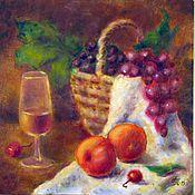 Картины и панно ручной работы. Ярмарка Мастеров - ручная работа Натюрморт с фруктами. Холст, масло. Handmade.