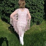 Шали ручной работы. Ярмарка Мастеров - ручная работа Шелковая ажурная шаль Рапcодия  большого размера. Handmade.