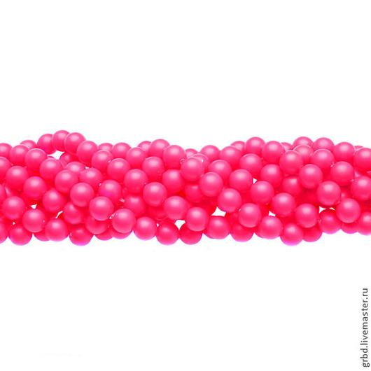 Для украшений ручной работы. Ярмарка Мастеров - ручная работа. Купить Жемчуг Сваровски 6 мм 5810 Neon pink (06-732). Handmade.