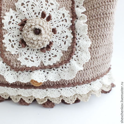 Сумки и аксессуары ручной работы. Ярмарка Мастеров - ручная работа. Купить Бохо-сумка вязаная Шоколад и карамель. Handmade.