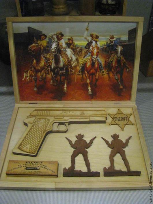 Оружие ручной работы. Ярмарка Мастеров - ручная работа. Купить Пистолет (пистолет стреляющий резинками). Handmade. Пистолет, мужской подарок