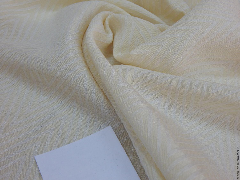 Шёлковая ткань ёлочкой, Италия, Ткань, Пенза, Фото №1