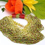 Necklace handmade. Livemaster - original item Summer, Ah summer - necklace with beaded strands. Handmade.