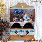 """Для дома и интерьера ручной работы. Ярмарка Мастеров - ручная работа Чайный буфет """"Приятного чаяпития"""". Handmade."""
