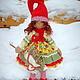 Коллекционные куклы ручной работы. Ярмарка Мастеров - ручная работа. Купить текстильная кукла гномка Агния). Handmade. Новый Год