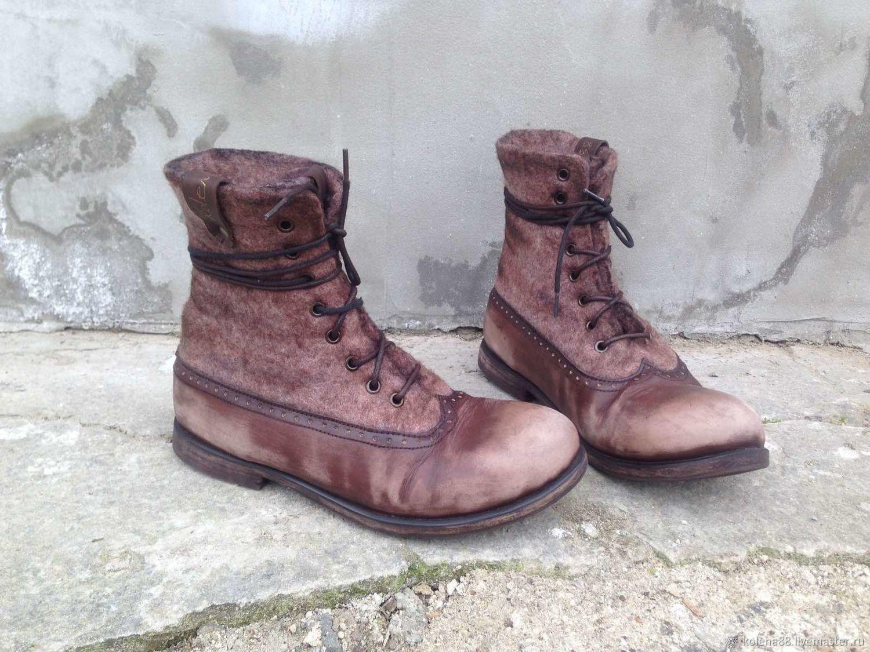 Ботинки валяные Каппучино, Ботинки, Ялта,  Фото №1