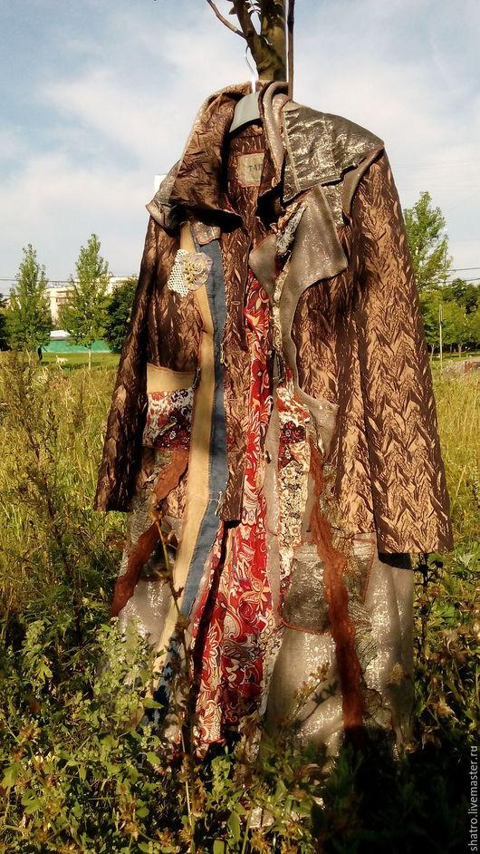 Верхняя одежда ручной работы. Ярмарка Мастеров - ручная работа. Купить СКИДКА - 9700  - пальто ПОД НЕБОМ ГОЛУБЫМ. Handmade.