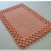 Для дома и интерьера handmade. Livemaster - original item Mat rug, crocheted of polyester cord Pink bumps. Handmade.