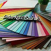 Фетр ручной работы. Ярмарка Мастеров - ручная работа Корейский фетр 36 цветов 22*28. Handmade.