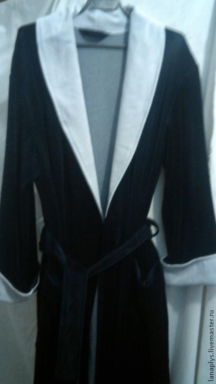 Халаты ручной работы. Ярмарка Мастеров - ручная работа халат мужской из велюра. Handmade.