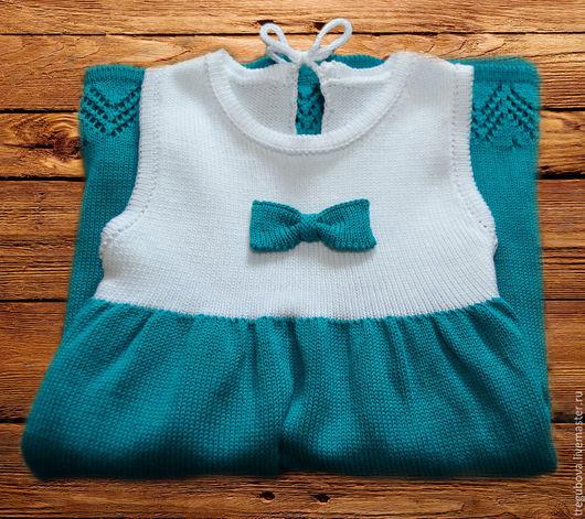 """Одежда для девочек, ручной работы. Ярмарка Мастеров - ручная работа. Купить Детский Сарафан """"Морское настроение"""". Handmade. Морская волна"""