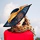 """Шляпы ручной работы. Ярмарка Мастеров - ручная работа. Купить Шляпа в стиле Нью-Лук """"Барбара"""". Handmade. Черный"""