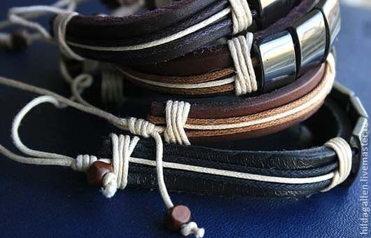 Браслеты ручной работы. Ярмарка Мастеров - ручная работа. Купить Кожаный браслет унисекс с магнетитом. Handmade. Коричневый, натуральная кожа