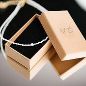 Украшения handmade. Livemaster - original item Choker necklace made of zircons and pearls. Handmade.