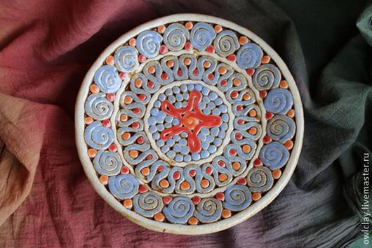 Тарелки ручной работы. Ярмарка Мастеров - ручная работа. Купить Тарелка «Атолл». Handmade. Авторская работа, Керамика, атолл