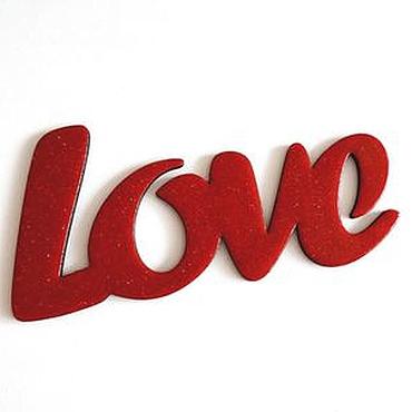 Для дома и интерьера ручной работы. Ярмарка Мастеров - ручная работа Интерьерное слово любовь Love свадебное. Handmade.
