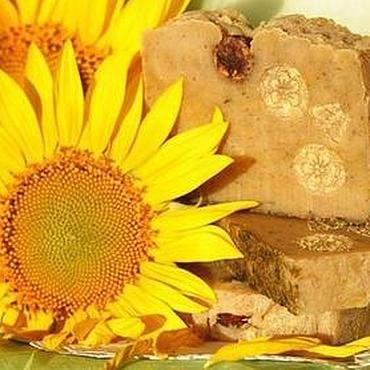 Косметика ручной работы. Ярмарка Мастеров - ручная работа Мыло с нуля натуральное  Календула и подсолнух желтый. Handmade.